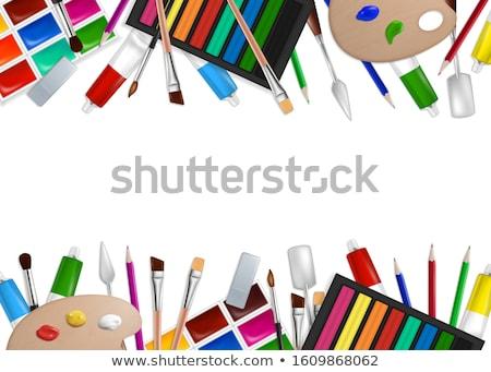 realistic artist paintbrushes set stock photo © pakete