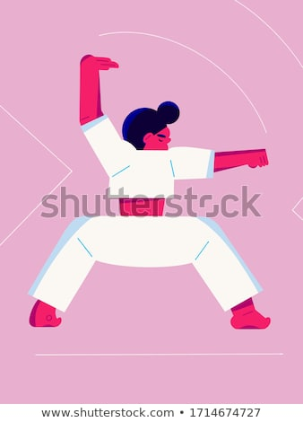 wushu woman meditation stock photo © petrmalyshev