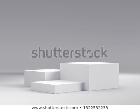 Empty white podium Stock photo © pakete