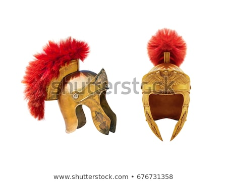 Foto d'archivio: Spartan Helmet Isolated On White Background Design Element For
