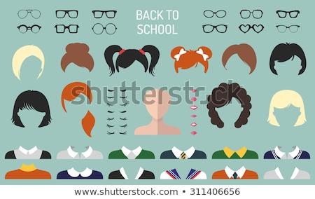 Vector flat style set of glasses. Stock photo © curiosity