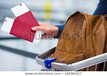 persona · equipaje · pasaporte · embarque - foto stock © andreypopov