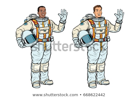 African and Caucasian astronauts in spacesuits Stock photo © studiostoks
