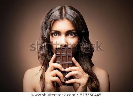チョコレート · 肖像 · 若い女性 · 願望 · おいしい · お菓子 - ストックフォト © candyboxphoto