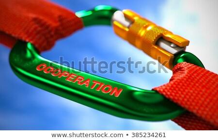 зеленый текста сильный связи два Сток-фото © tashatuvango