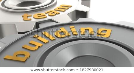 arany · sebességváltó · csapat · vezetőség · 3d · illusztráció · illusztráció - stock fotó © tashatuvango