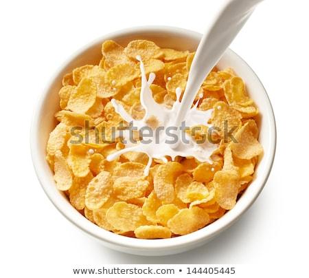 Melk cornflakes kom witte voedsel Stockfoto © Digifoodstock