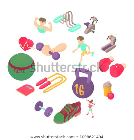 Fitball in 3D isometric style, vector illustration. Stock photo © kup1984