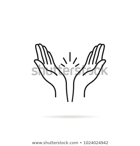 Icon hands in prayer linear style Stock photo © Olena