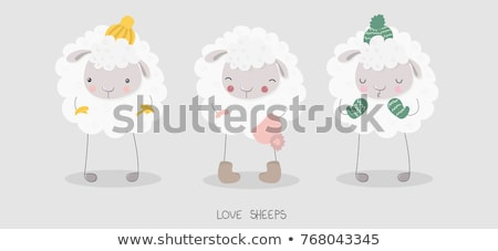 漫画 · 羊 · 動物 · 文字 · 実例 · かわいい - ストックフォト © kariiika