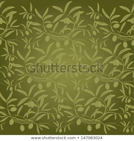 Sin costura aceitunas acuarela de oliva árbol Foto stock © jara3000