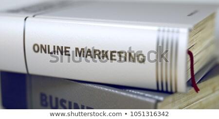 Kutatás könyv cím gerincoszlop 3D közelkép Stock fotó © tashatuvango
