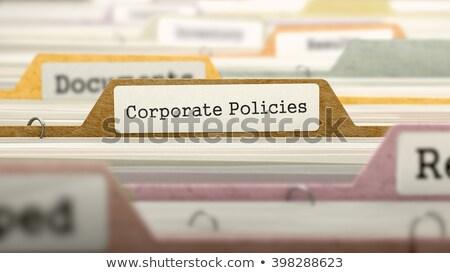Corporate Policies Concept. Folders in Catalog. Stock photo © tashatuvango
