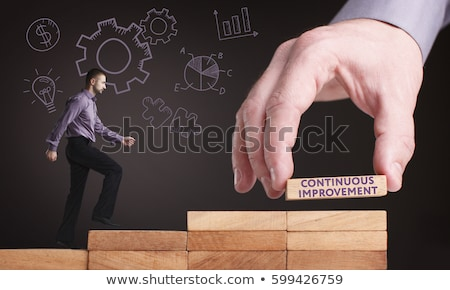 Continuous Improvement - Business Concept. Stock photo © tashatuvango
