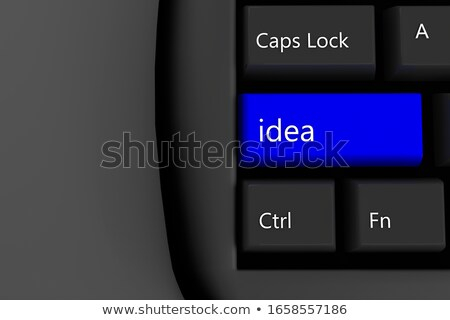 Clavier bleu opinion 3D mince Photo stock © tashatuvango