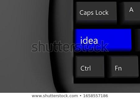mavi · görüş · klavye · siyah · seçilmiş - stok fotoğraf © tashatuvango