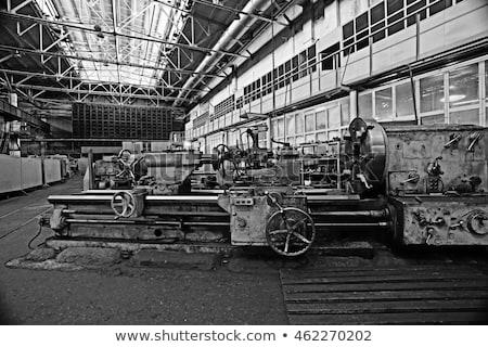 Bağbozumu makine atölye Metal teknoloji sanayi Stok fotoğraf © fotoduki
