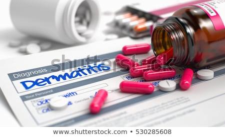 Diagnosis - Dermatitis. Medicine Concept. 3D Illustration. Stock photo © tashatuvango