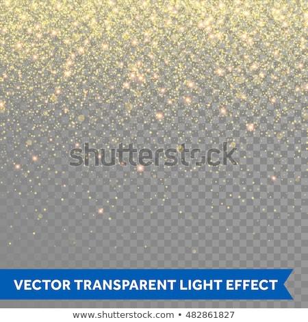 golden glitter particle dust transparent background stock photo © SArts