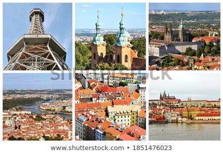 Prague · ville · photo · vue · château · colline - photo stock © hamik