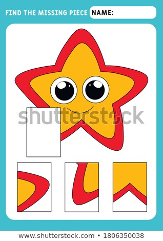 find the missing piece puzzle game with starfish stock photo © adrian_n