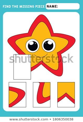 Trouver manquant pièce puzzle jeu starfish Photo stock © adrian_n
