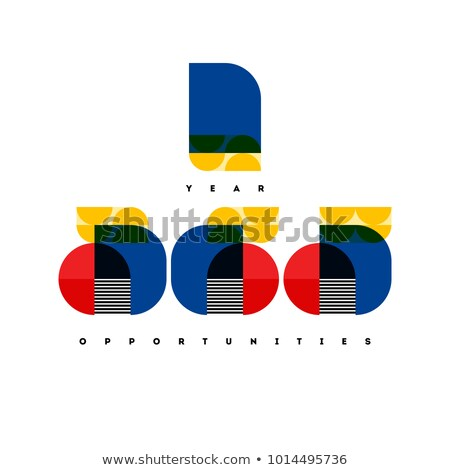 1 year - 365 opportunities lettering with elegant numbers in Bauhaus style. Inspirational and motiva Stock photo © ussr