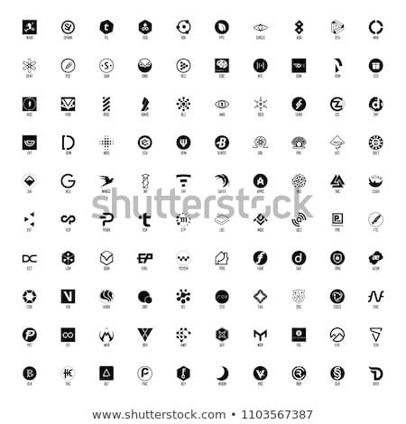 Stock fotó: Vektor · színes · logo · digitális · valuta · ikon