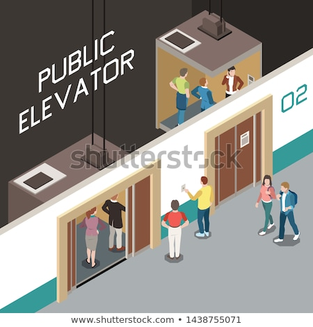 Hotel lobby isometric 3D element Stock photo © studioworkstock
