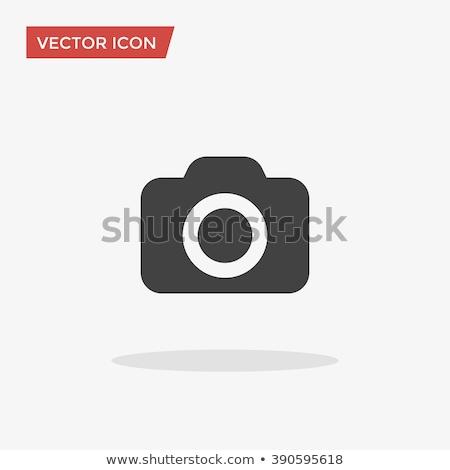 Kamera Vektor Symbol Design Farbe schwarz weiß Stock foto © rizwanali3d