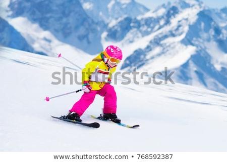 Ninos esquí cascos gafas de protección deporte nieve Foto stock © IS2