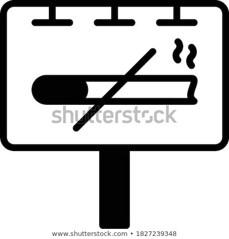 Vektor tilos felirat terv színes egyszerű Stock fotó © TRIKONA