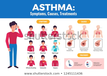 Zdjęcia stock: Asthma Health Diagnosis