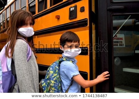 A School Bus and Students Stock photo © bluering