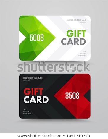 Conjunto moderno cartão de presente templates dourado verde Foto stock © orson
