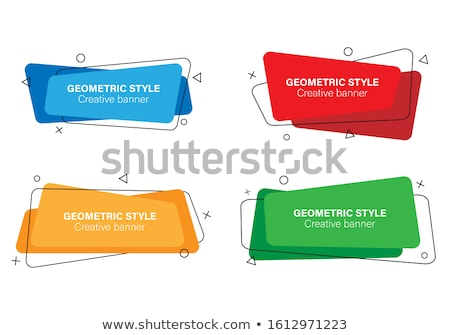 ingesteld · modieus · sticker · witte · abstract · verf - stockfoto © sarts