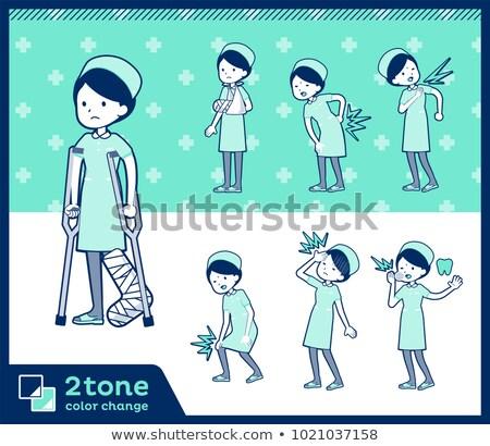 2tone type Nurse wear women_set 08 Stock photo © toyotoyo