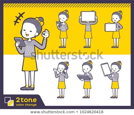 Tipo vestiti nastro libro donne Foto d'archivio © toyotoyo