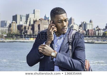 Kort haar zakenman ingesteld business landschap Stockfoto © toyotoyo