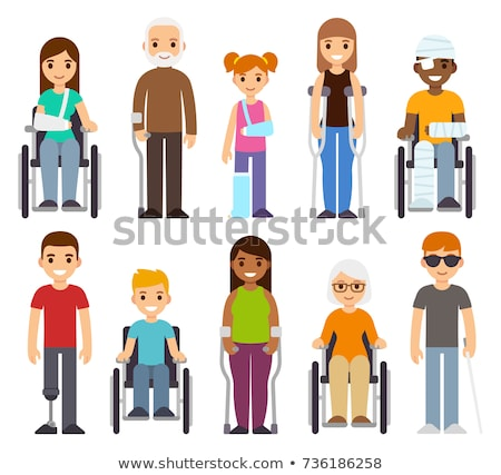 Set of sick and injured children Stock photo © bluering