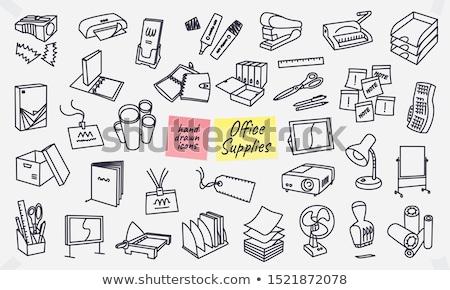 Kantoor printer schets doodle icon Stockfoto © RAStudio