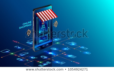 online shopping concept vector isometric illustration stock photo © rastudio