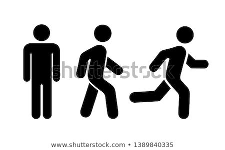 Humanismo ícones branco projeto multidão fundo Foto stock © get4net