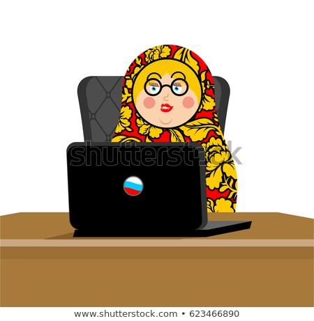 ロシア ハッカー マトリョーシカ ノートパソコン ip 技術 ストックフォト © popaukropa