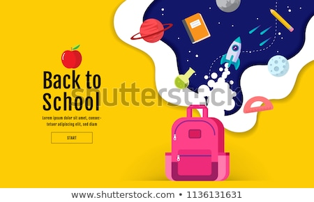 back to school flat icons.Vector illustration design Stock photo © Linetale