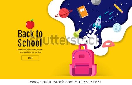 De volta à escola ilustração projeto escritório música papel Foto stock © Linetale