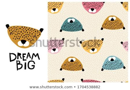 Karikatür leopar örnek gülen grafik Stok fotoğraf © cthoman