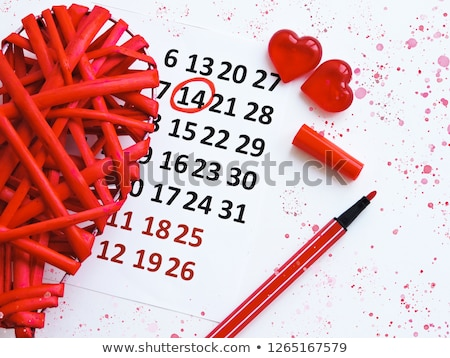A calendar showing the 14th of February Stock photo © colematt