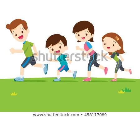 çocuklar · maraton · örnek · çocuklar · çocuk · öğrenci - stok fotoğraf © robuart