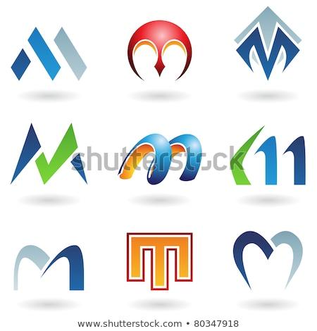 Lettera colorato geometria vettore icona Foto d'archivio © blaskorizov